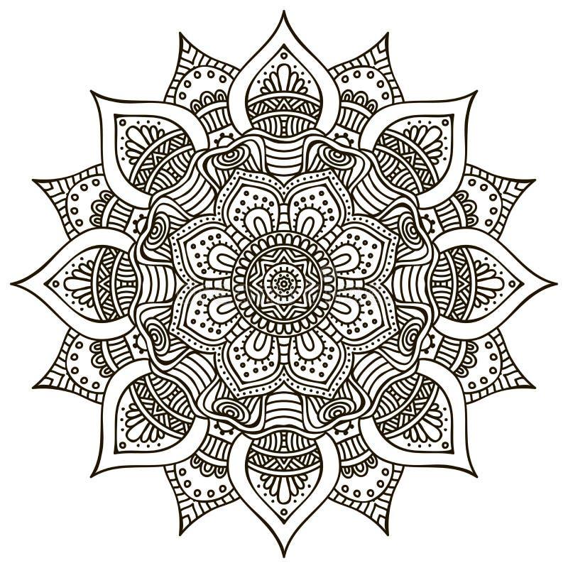 мандала иллюстрация вектора