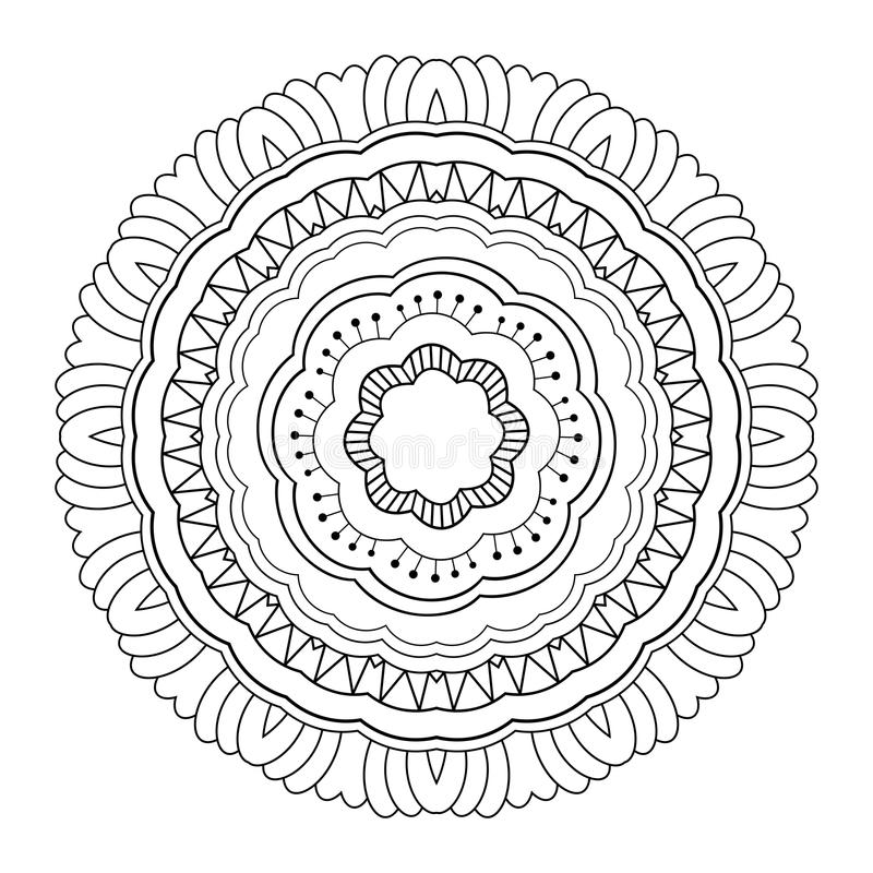 Мандала Deco вектора красивая иллюстрация вектора
