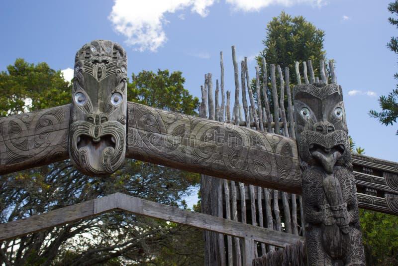 Маорийский традиционный высекать стоковое фото rf