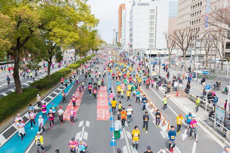 Марафон 2016 города Нагои стоковые фотографии rf