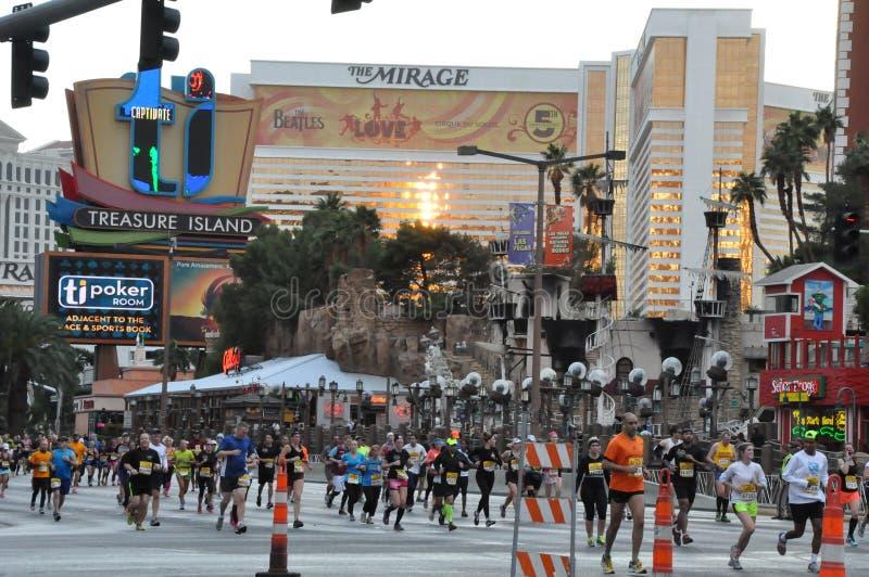 Марафон рок-н-ролл Лас-Вегас стоковое фото rf