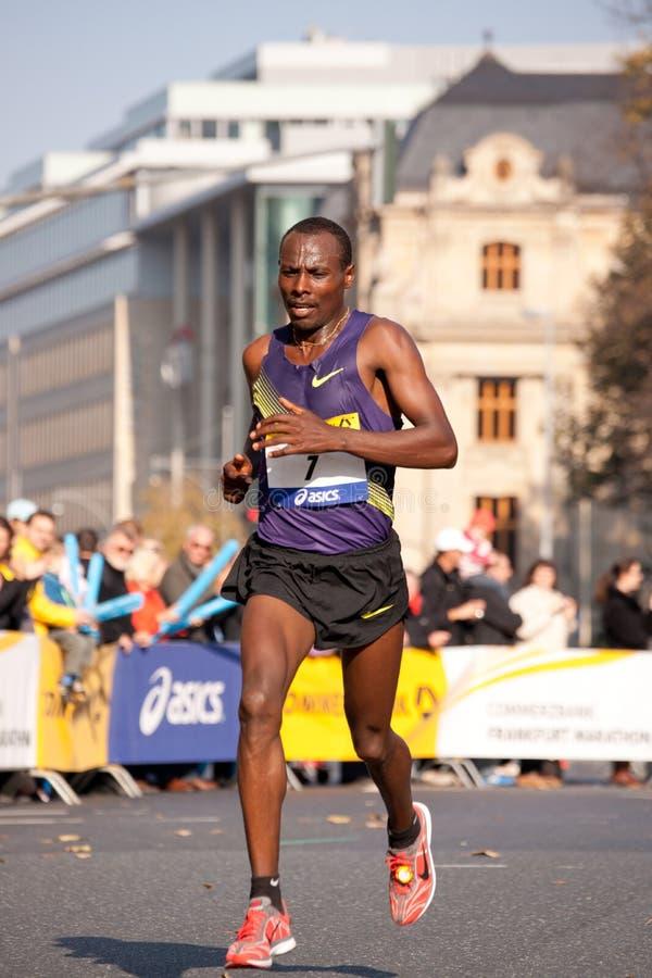 марафон 2010 commerzbank frankfurt стоковые изображения