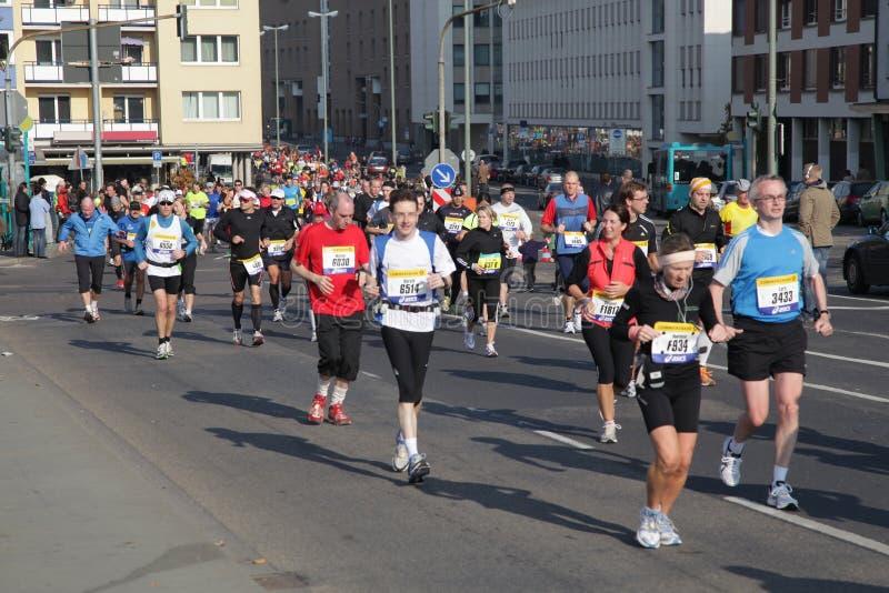 марафон 2010 frankfurt стоковые изображения