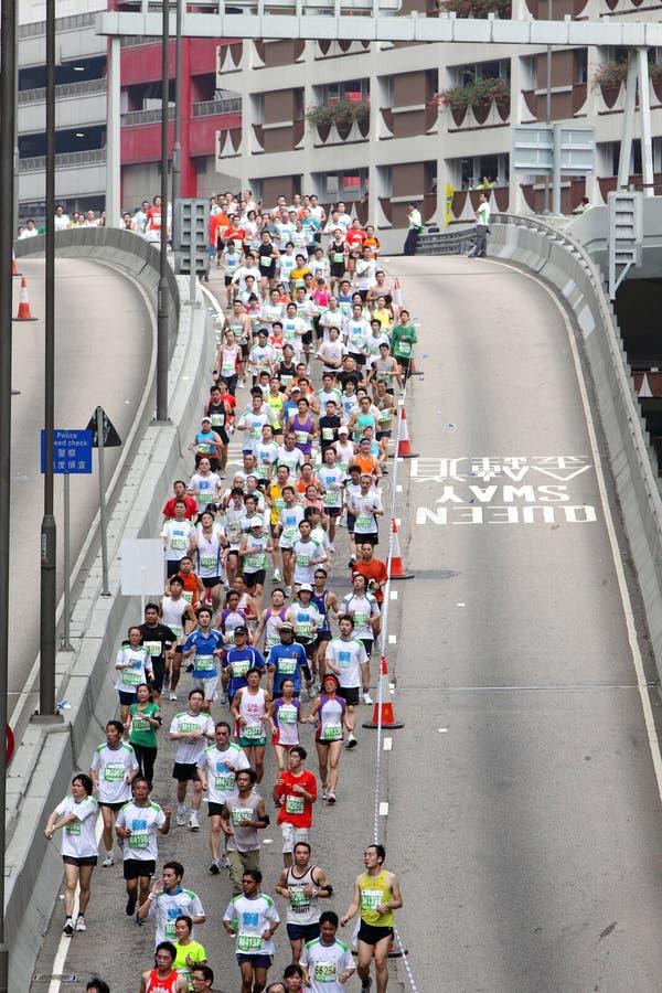 марафон 2010 Hong Kong стоковая фотография rf