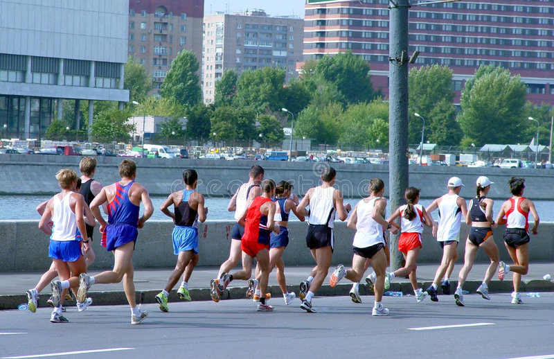 марафон стоковая фотография