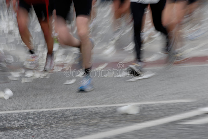 марафон стоковое фото