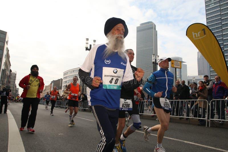 марафон frankfurt стоковая фотография rf