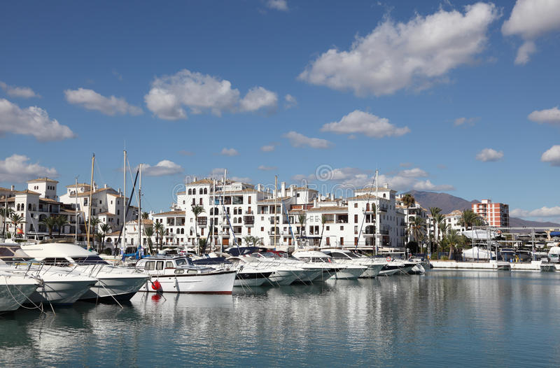 Марина в La Duquesa, Испании стоковое изображение rf