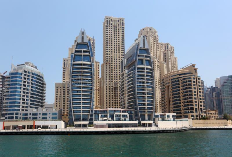Марина Дубай зданий новая стоковое фото rf