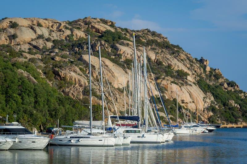 Марина курорта Poltu Quatu, Сардиния стоковая фотография rf
