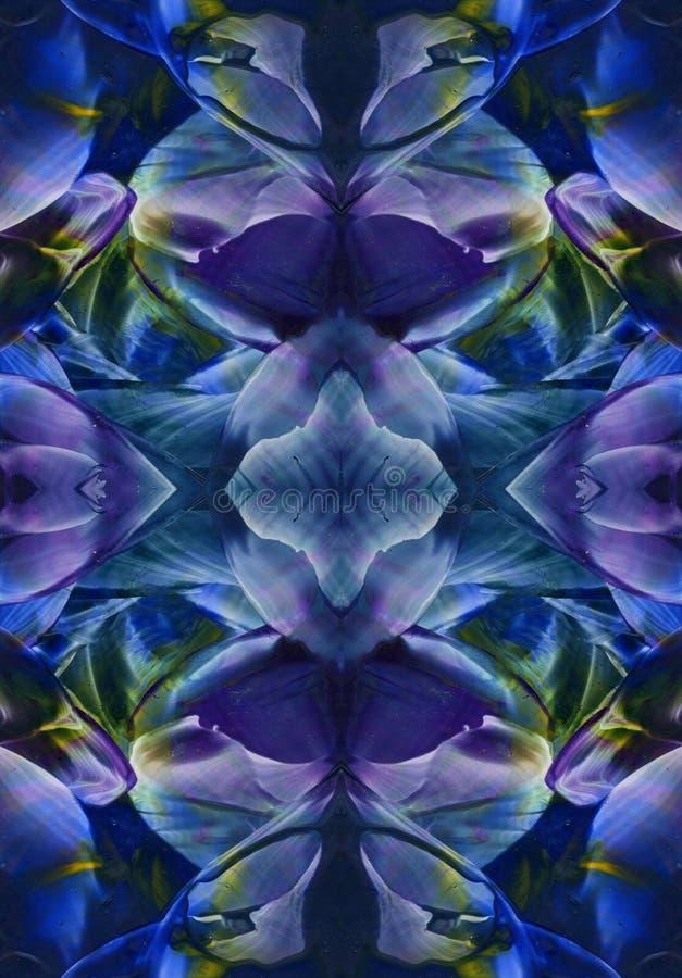 Марина, пион военно-морского флота, синь, предпосылка текстуры акварели индиго, ходы щетки, воск encaustics сделала Взгляд цвета  иллюстрация вектора