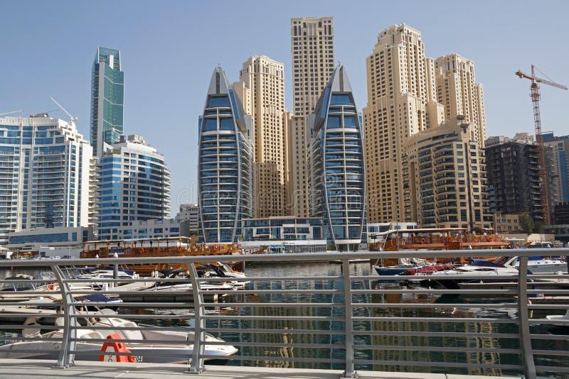 Марина района в Дубай стоковое фото rf