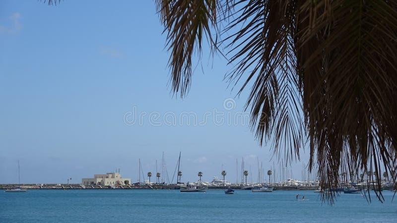 Марина яхты в Португалии Плавать ждать снаружи стоковое изображение rf