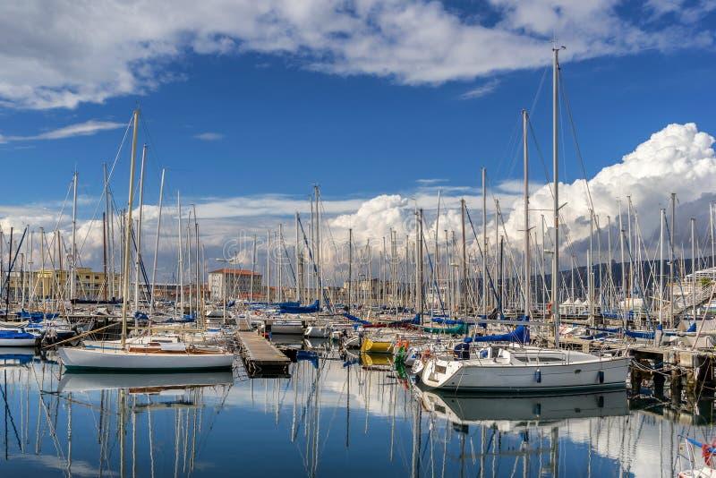 Марина яхты в Триесте стоковые изображения