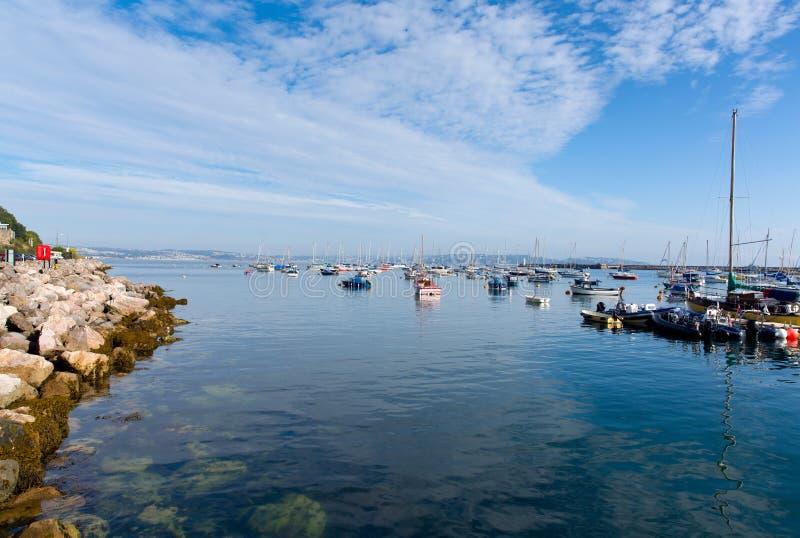 Марина Brixham и гавань Девон Англия Великобритания стоковое фото rf