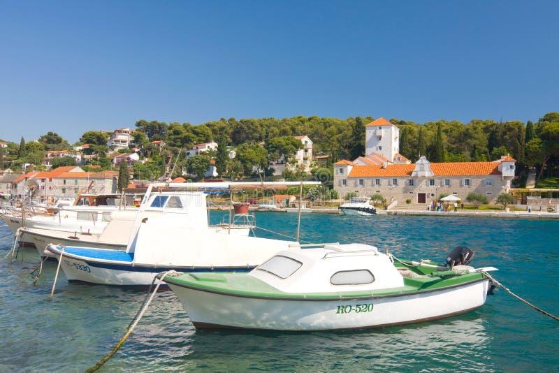 Марина, Maslinica, остров Solta стоковая фотография rf