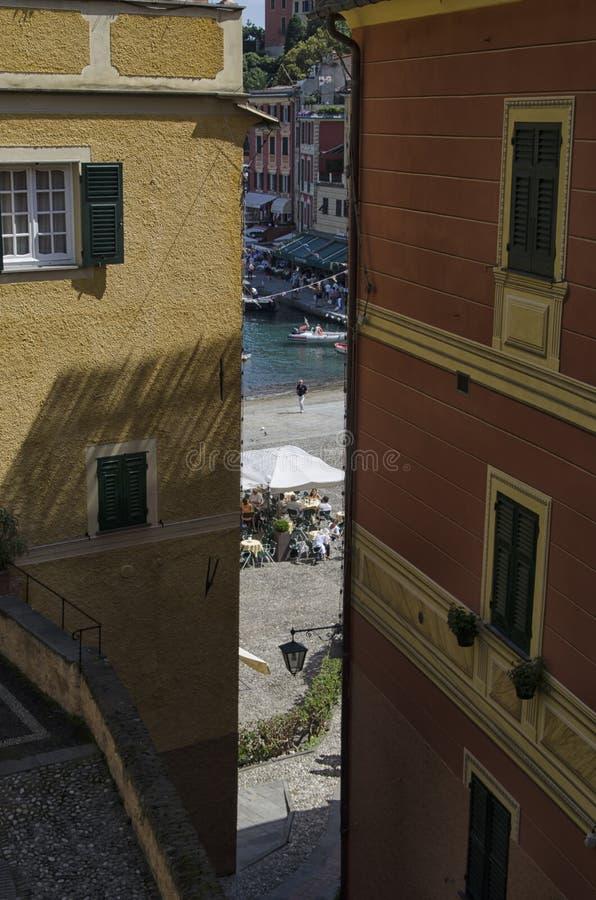 Марина Portofino от спрятанного угла стоковые фото