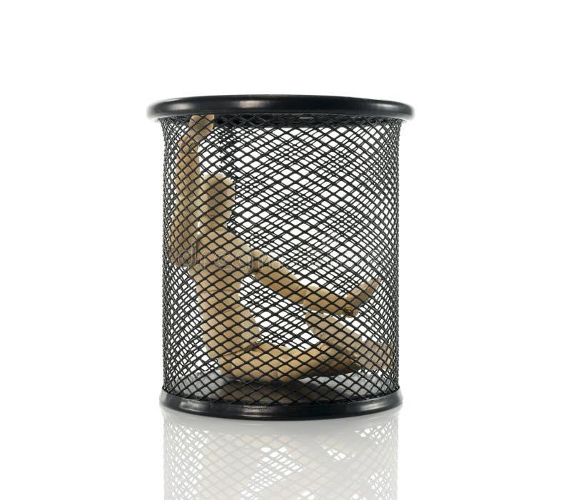 Марионетка в черном ящике металла стоковые изображения