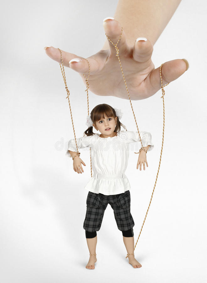 марионетка девушки ребенка стоковые фото