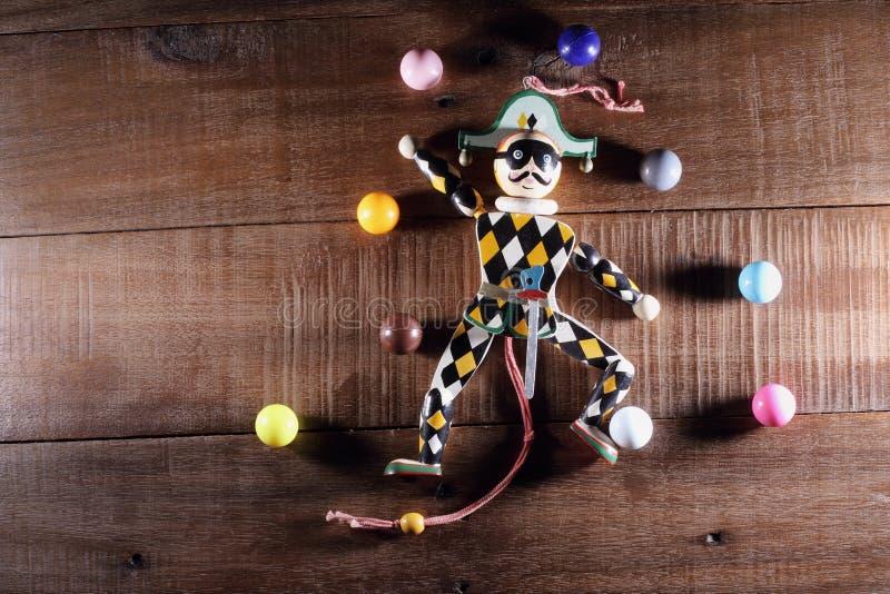 Марионетка клоуна стоковые изображения rf
