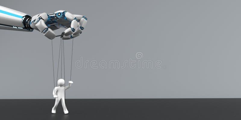 Марионетка руки робота иллюстрация штока