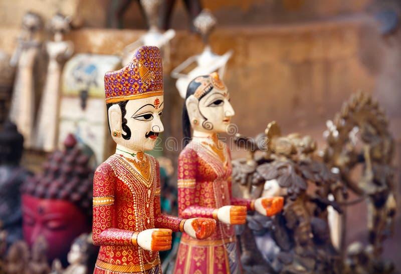 Марионетки Раджастхана на рынке стоковая фотография