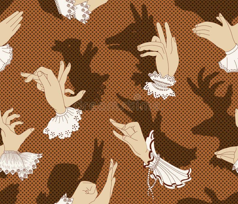 Марионетки руки тени, вектор иллюстрация вектора