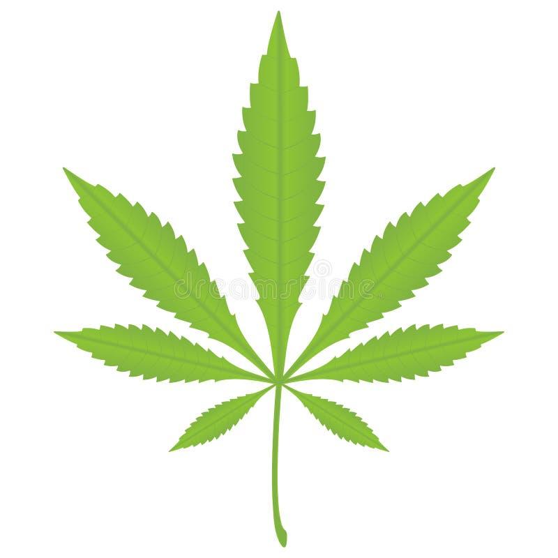 марихуана листьев иллюстрация штока