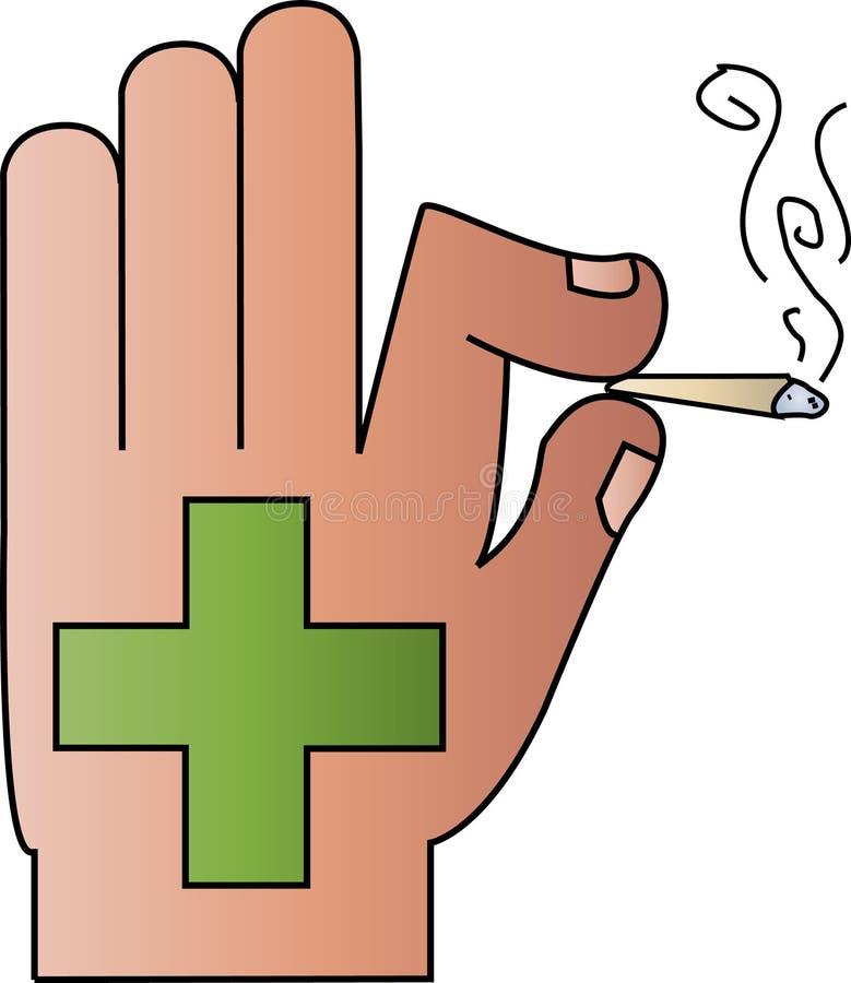 марихуана медицинская иллюстрация вектора