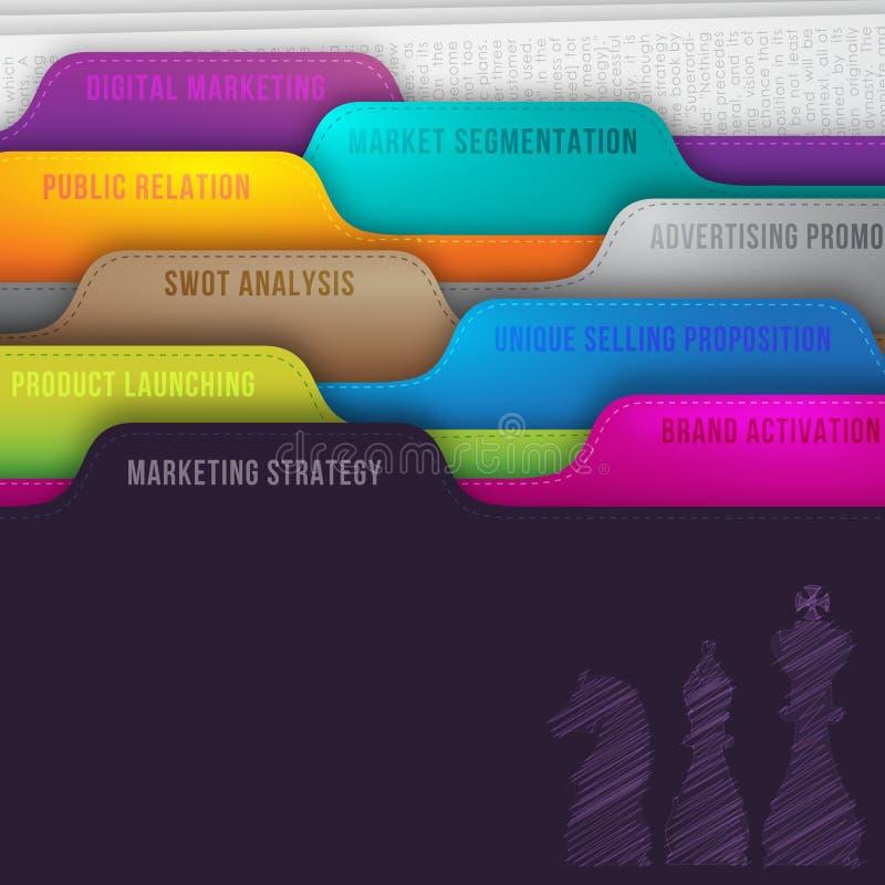 Маркетинговая стратегия иллюстрация вектора