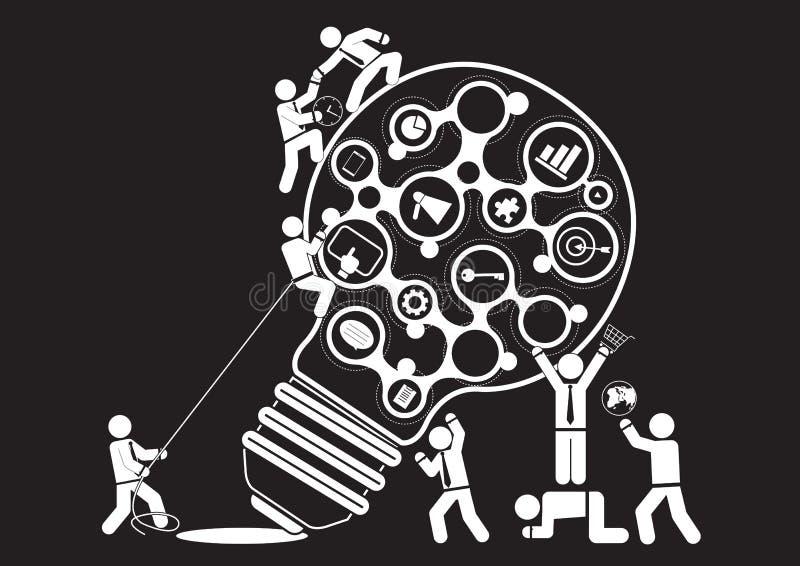 Маркетинговые коммуникация иллюстрация вектора