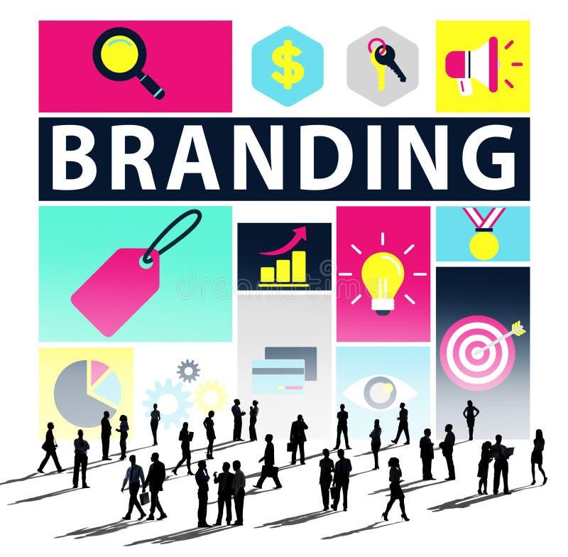 Маркетинг бренда клеймя концепция коммерчески имени бесплатная иллюстрация