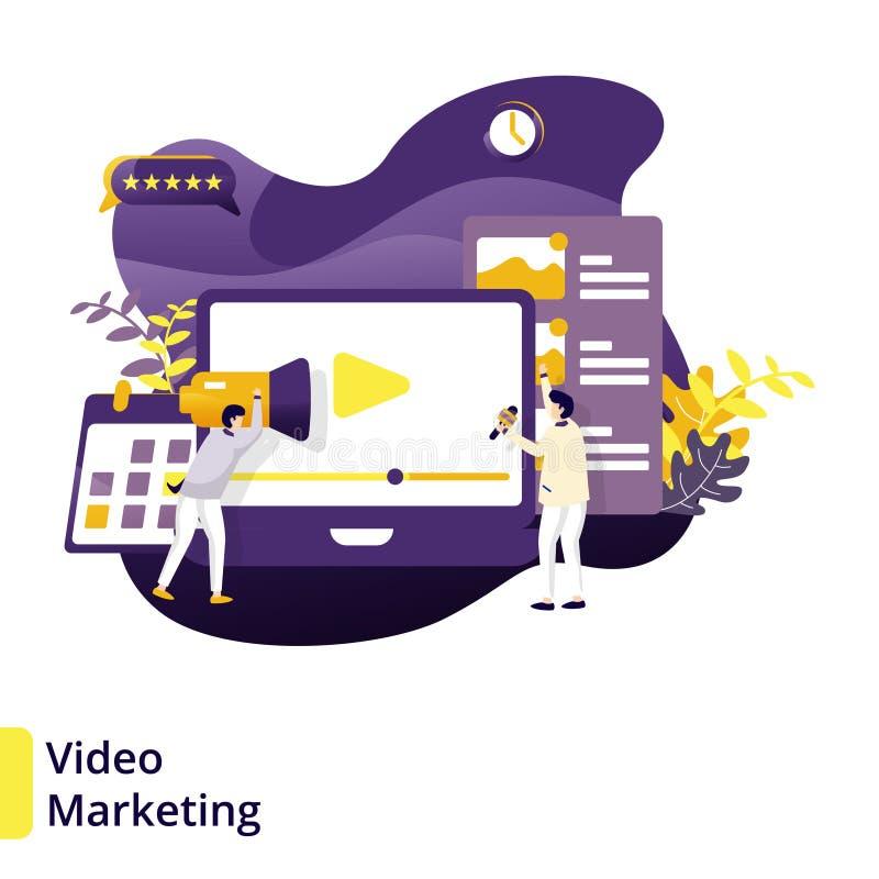 Маркетинг иллюстрации видео- иллюстрация штока