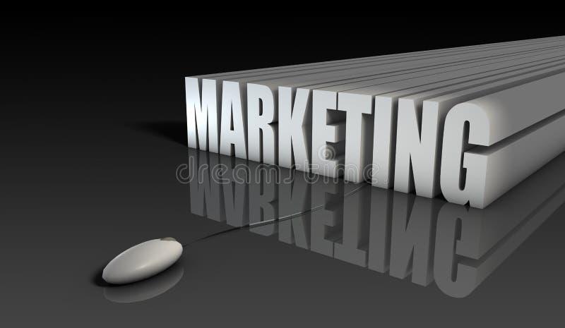 маркетинг интернета иллюстрация вектора