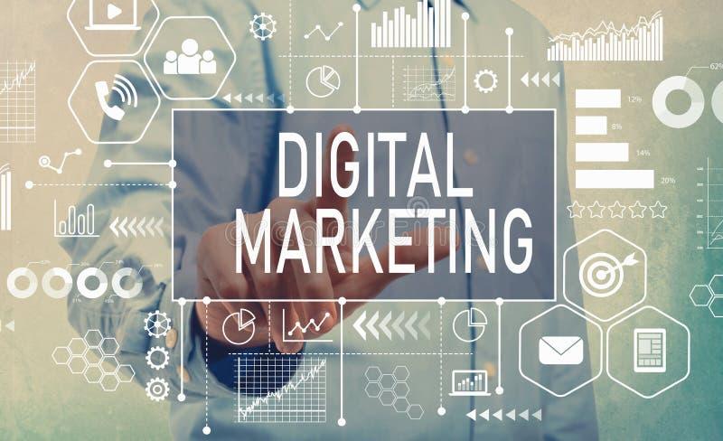 Маркетинг цифров с бизнесменом стоковое фото rf