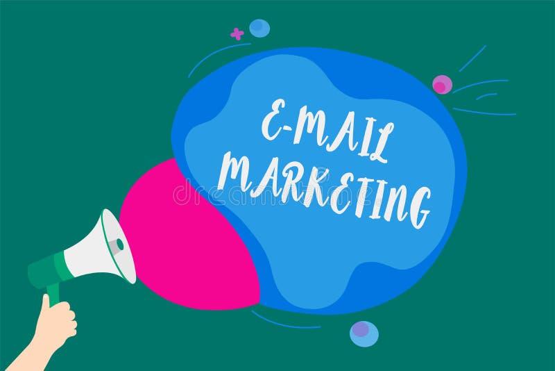 Маркетинг электронной почты текста сочинительства слова Концепция дела для электронной коммерции рекламируя онлайн продвижение ин бесплатная иллюстрация