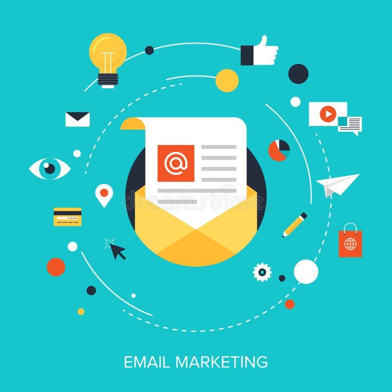 Маркетинг электронной почты иллюстрация вектора