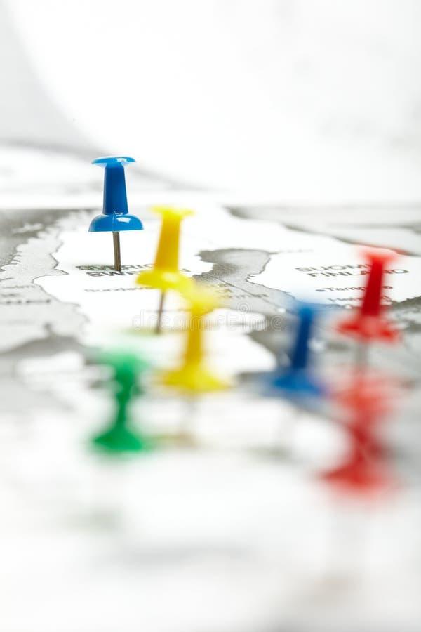 Маркированная трасса карты стоковое изображение