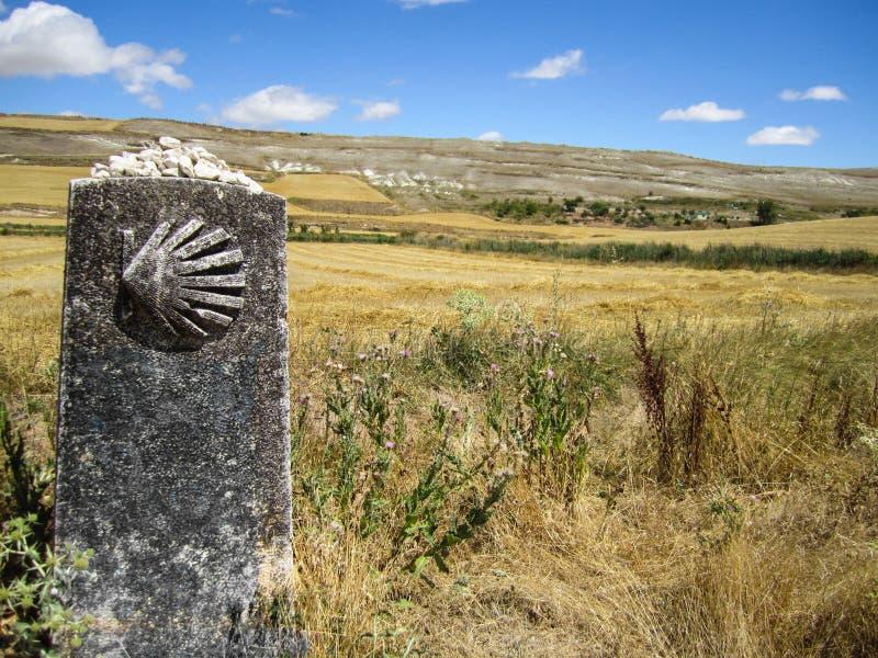 Марк в Camino de Сантьяго стоковое фото rf