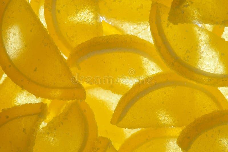 Мармелад сыра сладостного лимона покрытый с сахаром стоковые фото