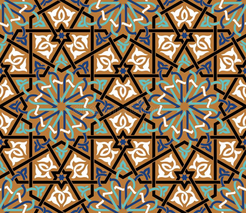 Марокканськая безшовная картина иллюстрация вектора