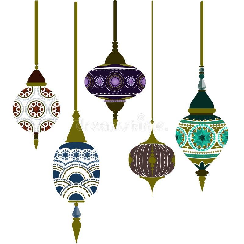 Марокканськие лампы иллюстрация вектора