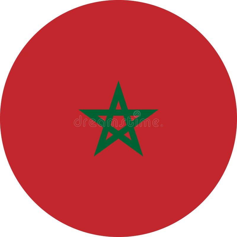 Марокканський вектор eps иллюстрации Африки флага иллюстрация вектора