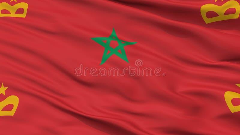 Марокканський военноморской взгляд крупного плана флага Ensign бесплатная иллюстрация