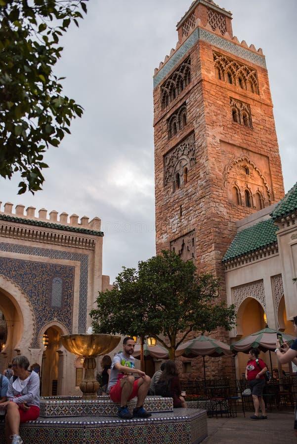 Марокканський павильон на Epcot стоковые изображения