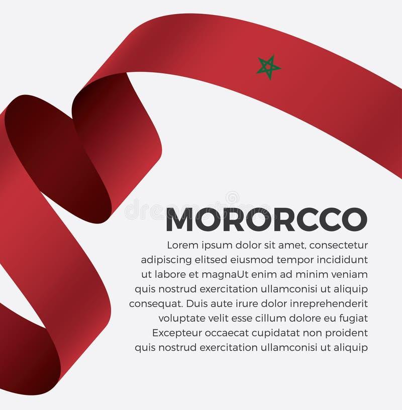 Марокканський флаг для декоративного Предпосылка вектора стоковое фото