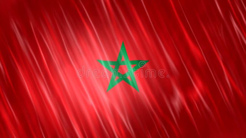 Марокканський флаг иллюстрация вектора