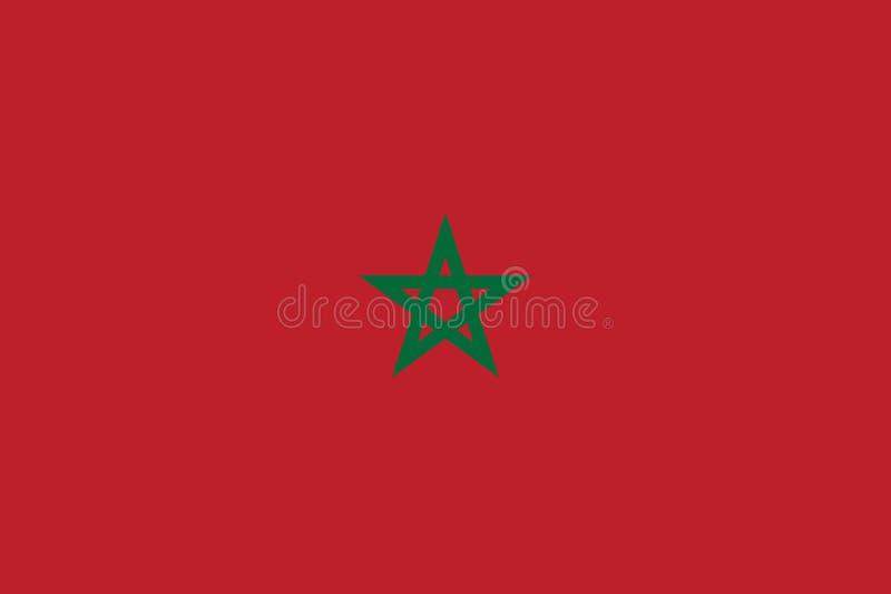 Марокканський флаг плоский иллюстрация штока