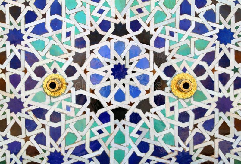 Марокко, деталь фонтана, Рабата стоковое фото rf