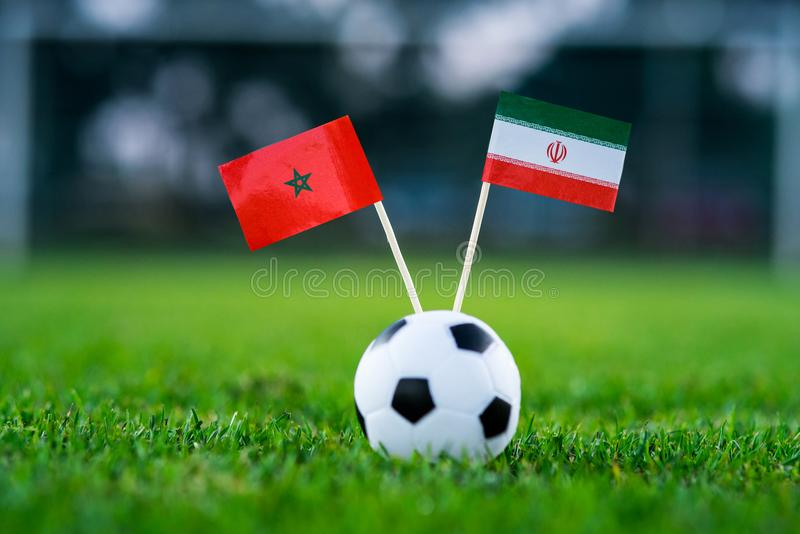 Марокко - инфракрасн Иран, группа b, Friday, 15 Футбол -го июнь, Cu мира стоковые изображения rf
